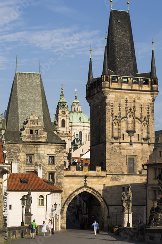 Photo the old city of Prague