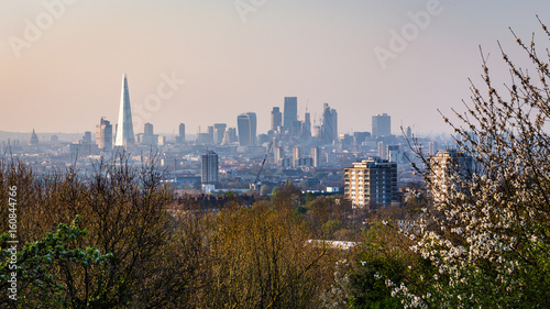 Poster London View over London's city centre from One Tree Hill in South-East London