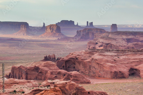 Scenic view of Monument Valley