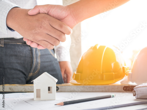 House Model In Saving Plan For Residence Of People In Society