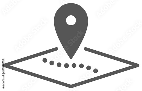 Fotografía  Routenplanung, Vektor Icon