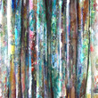 Grunge style abstract watercolor painting bamboo background.