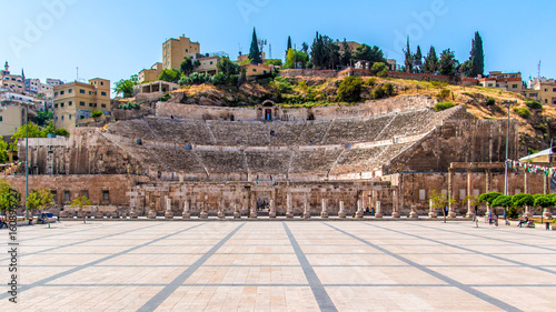 The Roman Theater in Amman Canvas Print