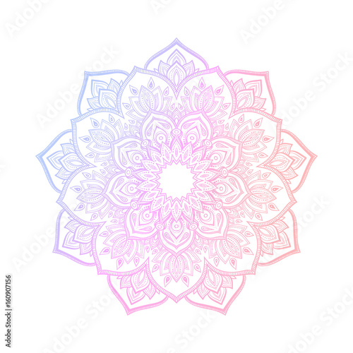 Hand drawn abstract mandala design Fototapet