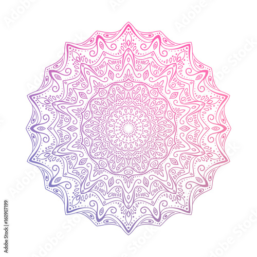 Hand drawn abstract mandala design Wallpaper Mural
