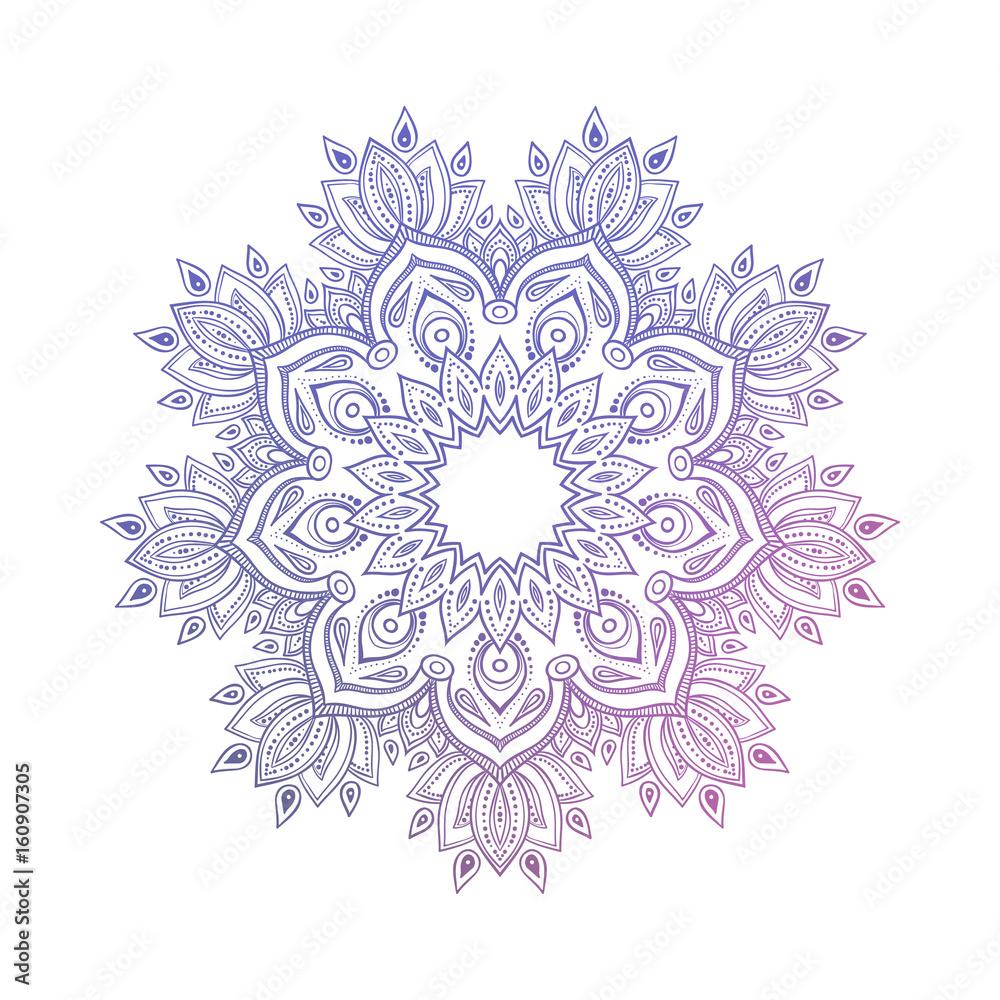 Photo  Hand drawn abstract mandala design
