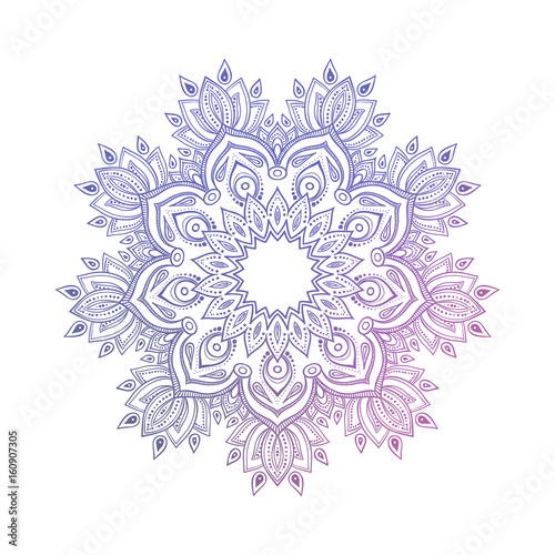 Hand drawn abstract mandala design Fototapeta