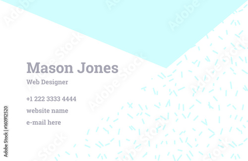 Fashion business card template in the style of memphis perfect fashion business card template in the style of memphis perfect combination of organic pattern and friedricerecipe Images