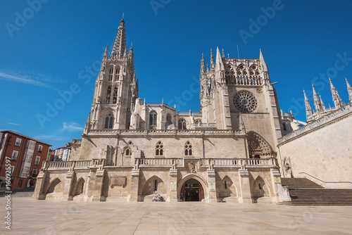 Famous landmark gothic Burgos cathedral, Castilla y Leon, Spain.