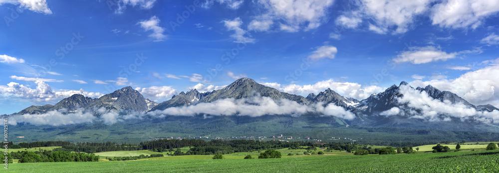 Fototapety, obrazy: High Tatras mountains - panorama.