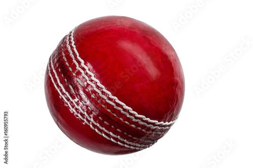 cricket ball on white background Fototapeta