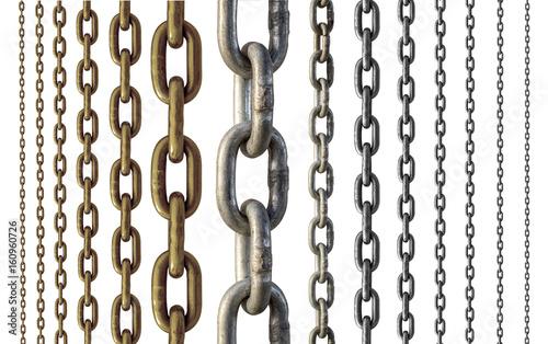 Metal chain Fototapete