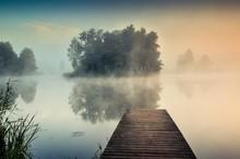 Morning Misty Landscape On The...