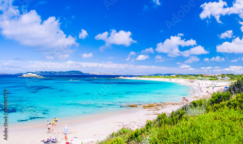 Photo  Azure sea at Porto Pollo beach on beautiful Sardinia island near Porto Pollo, Sa