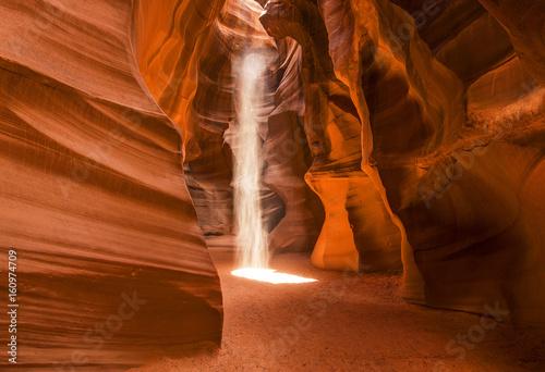 Photo Light Beams Inside Antelope Canyon , Page, Arizona