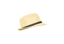 Summer Straw Hat Isolated On W...