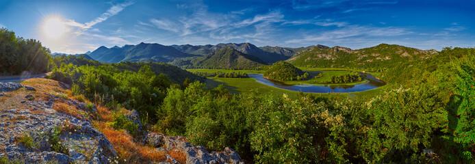 Montenegro Majestic Landscape - Rijeka Crnojevica river bending