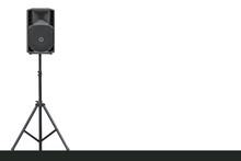 Sound Speaker On A Tripod