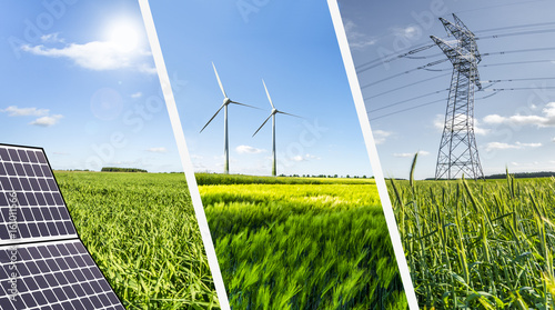 Obraz Renewable energies concept collage - fototapety do salonu