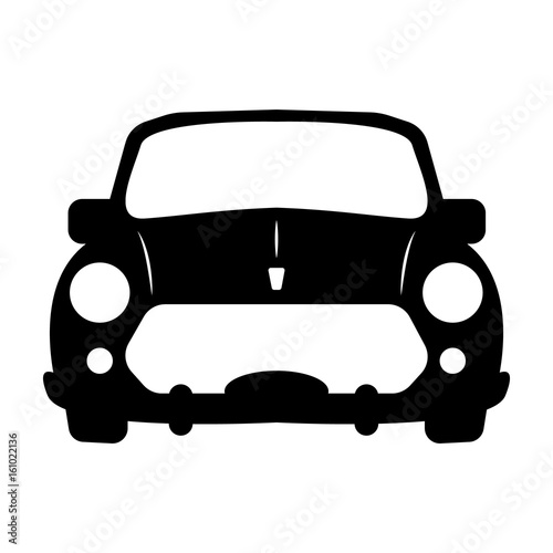 Luxury Car Sedan Or Performance Car Front View Flat Icon For Apps