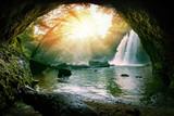 wodospady haew suwat w parku narodowym khao yai w tajlandii