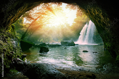 Foto op Canvas Watervallen haew suwat waterfalls in khao yai national park thailand