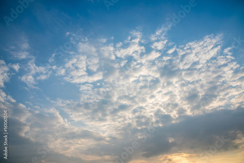 Morning Sky,cloudscape Canvas Print