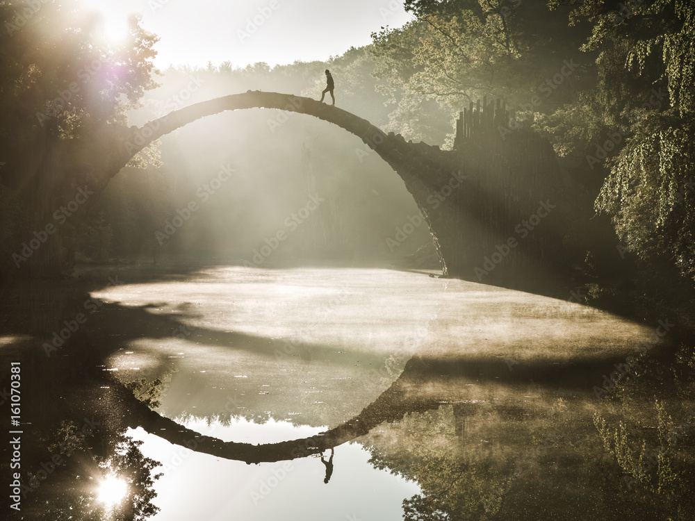 Most Rakotz Bridge Kromlau w Saksonii <span>plik: #161070381 | autor: Ronny Behnert</span>
