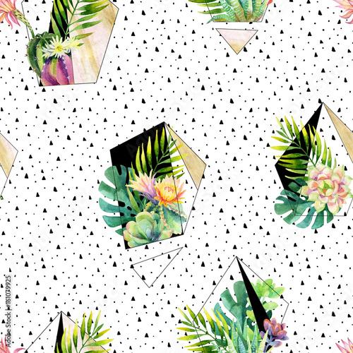 akwarela-egzotyczne-terrarium-streszczenie-rosliny-wzor