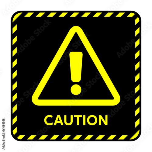Fotografia  サイン 注意 Caution,!,黄色,三角