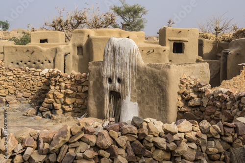 House of the Animist Hogon in the Village of Sangha, Dogon Country, Mali Wallpaper Mural