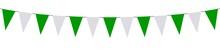 Guirlande, Fanions Verts Et Bl...