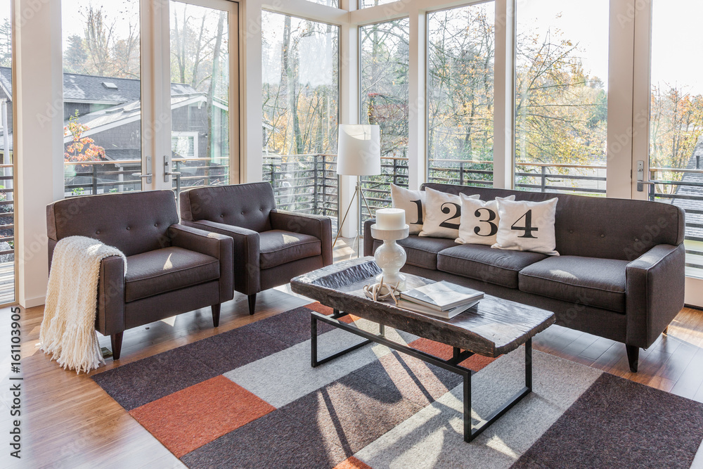 contemporary living room Foto, Poster, Wandbilder bei ...