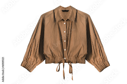 Photo Brown blouse isolated