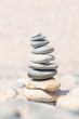 Balance stone. Zen rocks on the beach. Feng Shui balance