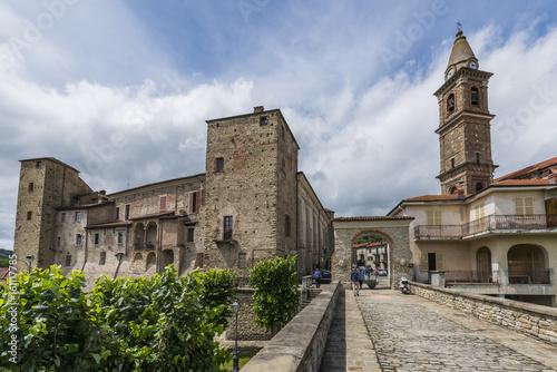 Photo Bridge and Church of Monastero Bormida