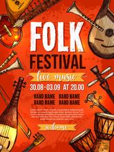 Music Festival Vector Poster Template