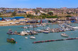 canvas print picture - Inner harbour of Port Elizabeth, South Africa