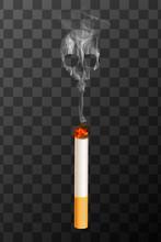 Realistic Burning Cigarette Wi...