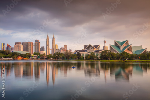 Photo Stands Kuala Lumpur. Cityscape image of Kuala Lumpur skyline during sunset.