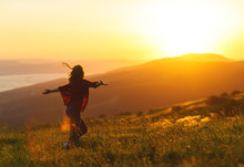 Happy Woman  Dances,  Rejoices...