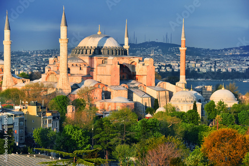 Fotografia Hagia Sophia museum (Ayasofya Muzesi) in Istanbul, Turkey