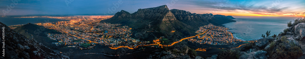 Fototapety, obrazy: cape town at dusk