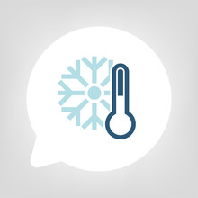 Kreis Sprechblase - Temperatur Kalt