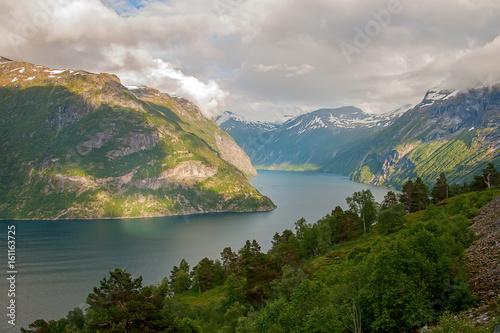 Foto op Aluminium Zee / Oceaan Geiranger fjord, Norway