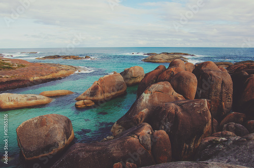 Photo  Boulders on the Australian coast