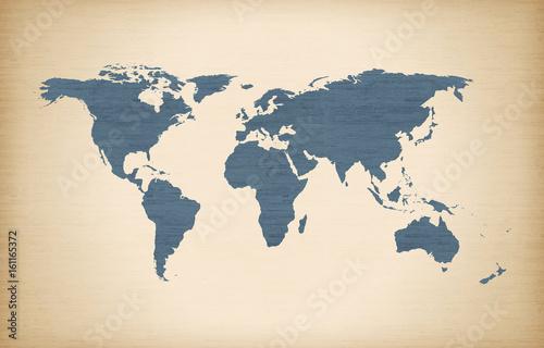 In de dag Wereldkaart vintage world map, digital world map, hight tech map, futureristic world map
