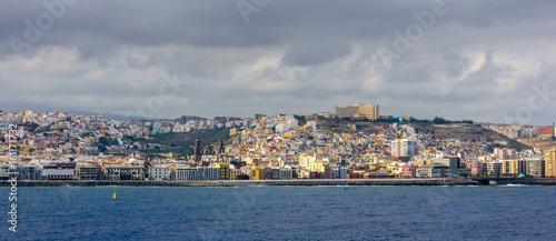 Las Palmas, Spain. Panoramic view from sea