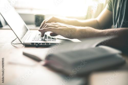 Student working on the Laptop Fototapeta
