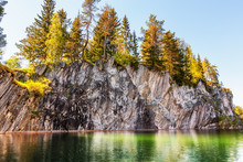 Marble Lake In Quarry In Ruske...